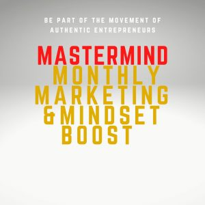 mastermind monthly marketing authentic personal branding and growth mindset boost greet bunnens