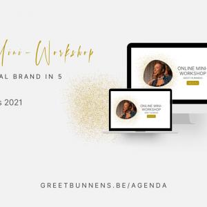 online mini workshop personal branding greet bunnens